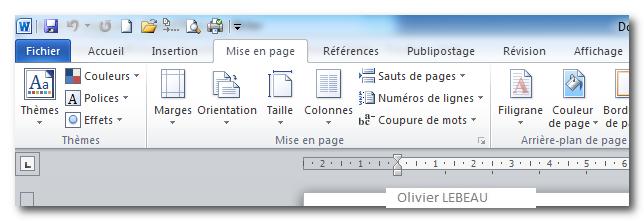 La Mise En Page Des Documents Sous Word