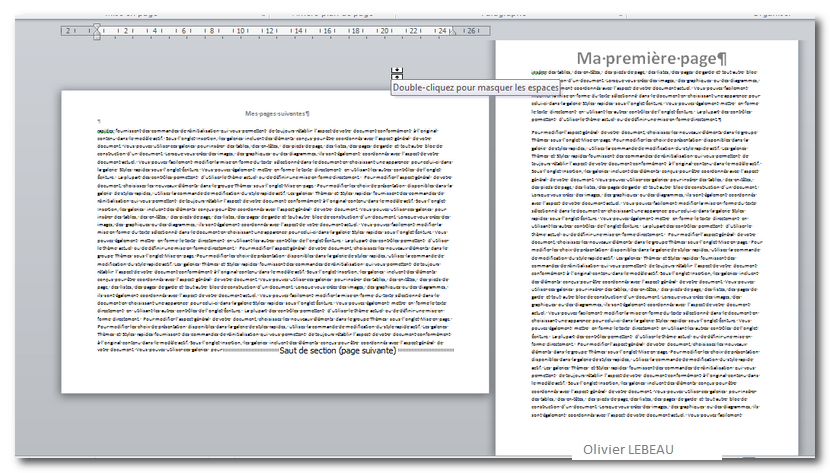 la mise en page des documents sous word